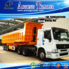 3 Axle Tipper Semi Trailer/Rear Dump Truck Trailer