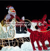 LED Santa and His Carriage with Cute Deers Christmas Lights