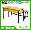Simple Style Wood School Furniture Double Student Bench (SF-26D)