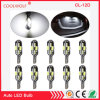 12LED Interior Dome Map Lights Bulbs T10 194 158 2825 12V Canbus No Error Canbus Lamps Red Blue White Pink Ice Blue