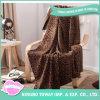 Fashion Leopard Print Thermal Feet Leg Soft Blanket