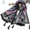 Fashion Lady Scarf Nepal Style with Tassels Beach Shawl