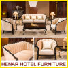 Contemporary Wooden Sofa Set Furniture for 5 Star Hotel Lobby