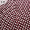 Red Geometry Polyester Chenille Fabric for Sofas (FTH31950)