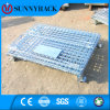 ISO9001 Galvanized Foldable Warehouse Storage Wire Container