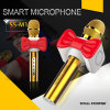 Condensador Microphone Mobile Handheld Wireless Microphone Mini Portable Bluetooth Microphone with Speaker for Android iPhone