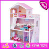 New Design Girls Miniature Toys Wooden Doll House Kits W06A083