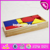 New Design 48 Pieces Toddlers Educational Geometry Wooden Pattern Block Puzzles W13A107