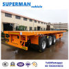 40FT 3 Axle Flatbed Container Semi Trailer for Container Use