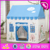 Indoor or Outdoor Children Pretend Playhouse Cottage Tent House for Kids W08L001