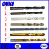Straight Shank Titanium Coated HSS Twist Drill Bits