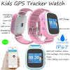Waterproof IP67 Kids GPS Tracker Watch with Colorful Screen