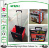 Portable Plastic Foldable Rolling Box with Two Wheels