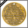 Soft Enamel Metal Badge, Zinc Alloy Gold Medal Badge (BYH-10845)