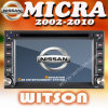 Witson Radio GPS for Nissan Micra (W2-D9900N)
