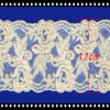 Flower Pattern Cotton Embroidery White Chemical Lace