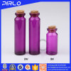 (10ml20ml) Purple Color Glass Bottle with Wooden Cork