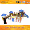 Kids Outdoor Playground Equipment with Slide and Climber in 4.5′′ Galvanized Post