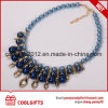 Dignity Woman Blue Pearl and Diamond Pendent Necklace/ Plating Choke