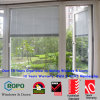 White Color UPVC Swing out and Glass with Blinds Windows