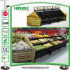 Supermarket Metal and Wooden Display Rack for Vegetables and Fruits