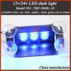 LED Dash Warning Light for Police Car Windshield in Blue Color