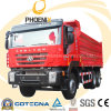 350HP Euro4 Hongyan Genlyon Dumper with Large Cargo Box