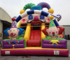 Standard Double Stairs Colorful Inflatable Clown Slide