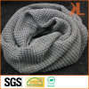 Acrylic Fashion Warm Gray Grid Knitted Neck Scarf