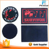 High Quality Custom Rectangle Outdoor Rubber PVC Magic Tape Backing Patches for Clothing