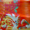 Printed Silk Organza in Flower Design