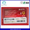 UV Dod Printed Barcode & Serial No. Scratch PVC Card