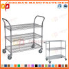 Medical and Hotel Wire Shelf Trolley (Zhw44)