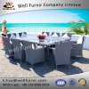 Well Furnir Royal White 10-Seater Dining Rattan Set