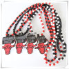 Hip Hop Wood Fashion Pendant with 36 Inches Wood Beaded Chain (IO-wn010)