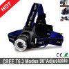 Hot Sale CREE T6 LED Headlamp 3 Modes Adjustable for Head