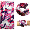 Custom Made Pink Overall Logo Printed Multifunctional Seamless Neck Scarf