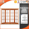 Solid Wood Exterior Aluminum Alloy Powder Coating Technology Bay & Bow Window, Popular Specialty Window with Grille