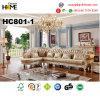 Antique Furniture European Leather Couch Sofa (HC801-1)