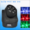15W 6 Small Bee Eye Zoom LED Moving Head Light