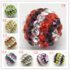 Diamond Multicolor Pave Ball Beads, Clay Beads Shamballa Pave Jewelry (2251)