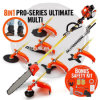 62cc Multi-Function Garden Tools 8 in 1 Hedge Trimmer