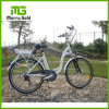 Fashionable White Color E City Bike with Rear Carrier for Girls
