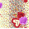 100%Polyester Rose Leopard Print Pigment&Disperse Printed Fabric for Bedding Set