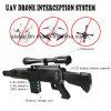 Aim at Uav Telescope Portable Gun Typle Uav Drone Jammer Built-in Battery