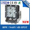 80W CREE LED Work Light Tractor Truck Excavator Working Light