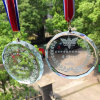 Custom Glass Medals with Ribbon, Sport Medals and Trophys with Personalized Logo Wholesale