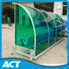 Mobile Outdoor Sports Bench with See-Through Shelter for Soccer, Hockey, Cricket Field
