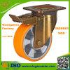 Yellow Zinc Plated Heavy Duty Brake Castor Wheel for Trolley