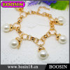 fashion Round White Pearl Bracelet/Gold Chain Bracelet #31511